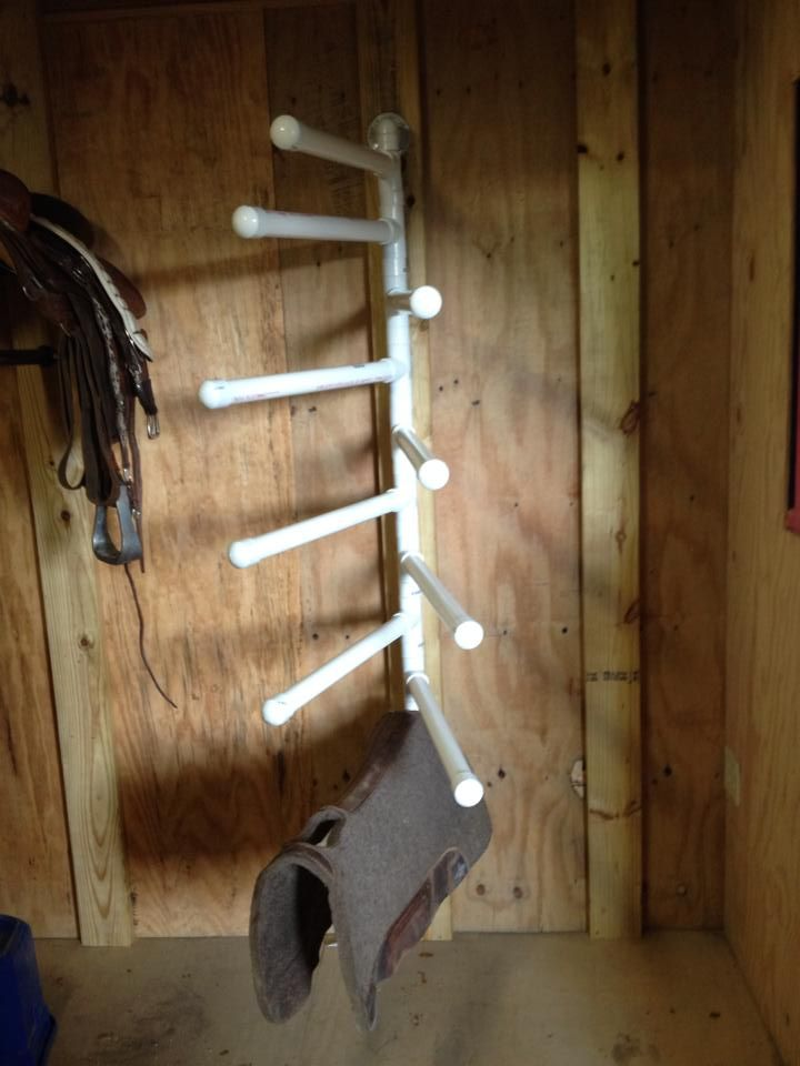 Pvc Saddle Blanket Saddle Pad Rack Diy
