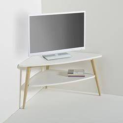 tv stand white oak corner