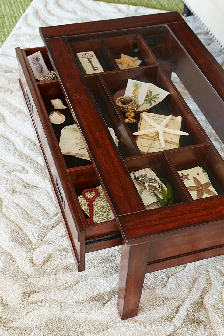Best 25 shadow box coffee table ideas on pinterest country man pier 1s interactive shadowbox coffee table turns you into an amateur designer just pull out geotapseo Images