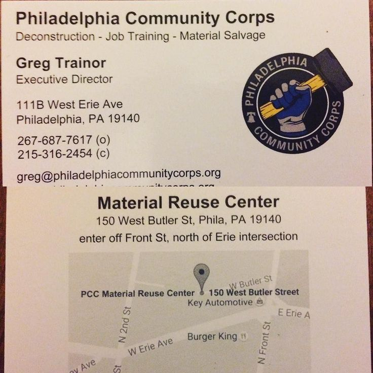 Woohoo! New business cards have our office landline and my new (215) cell phone number as well as a map on the back to our admittedly hard to find building material reuse center! It's getting more legit at @philadelphiacommunitycorps all the time! #businesscards #business #215
