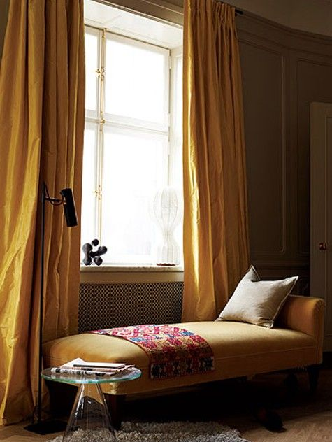 Modern yellow daybed /by Ilse Crawford