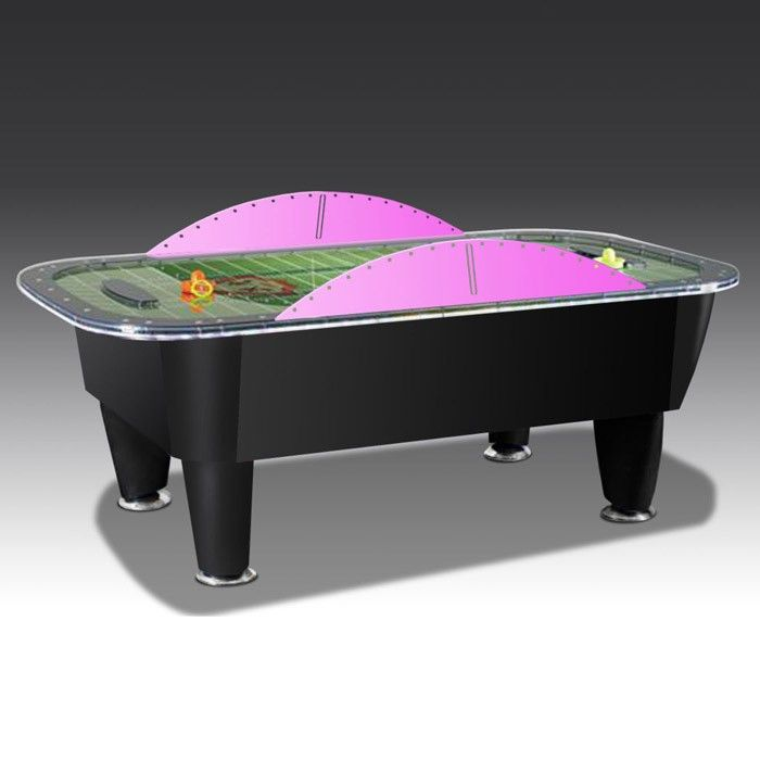 Phantom Air Hockey Table - The Phantom peppers your gameplay with lively commentary and voice scoring, and a precision engineered top rail delivers the loudest 'ping' for the most zing,