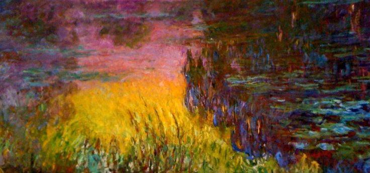 Monet Nymphéas, soleil couchant Orangerie