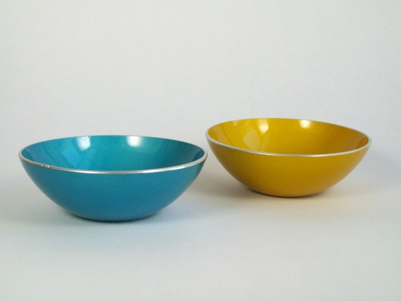 Vintage Emalox Norway Anodized Aluminum Bowls by EightMileVintage