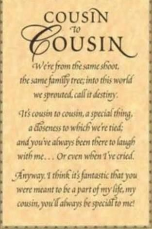 Image result for quotes about the loss of a cousin