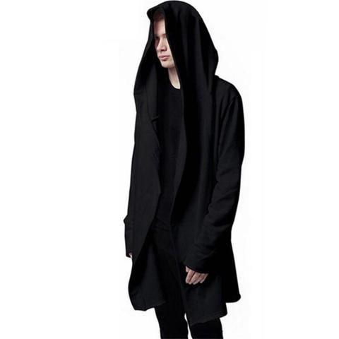 19fe901c12b1 New Autumn Fashion Hip Hop Mantle Hoodies Sweatshirts Men Women Black Gown Jacket  Long Sleeve Cloak Men's Coats Outwear Moletom