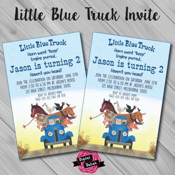Little blue truck birthday invitation little blue truck birthday little blue truck birthday invitation little blue truck birthday birthdays birthday party ideas and party invitations filmwisefo
