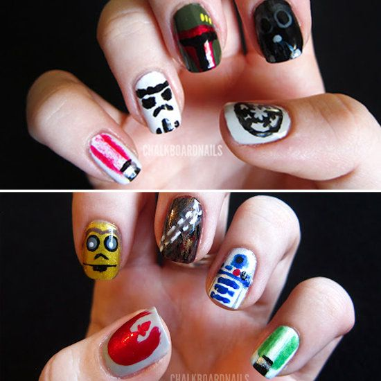 Star Wars Nails!: Photos Courtesi, Photos Galleries, Nails Art, This Is Awesome, Chalkboards Nails, Star Wars Nails, Do You, Stars War Nails, Starwars