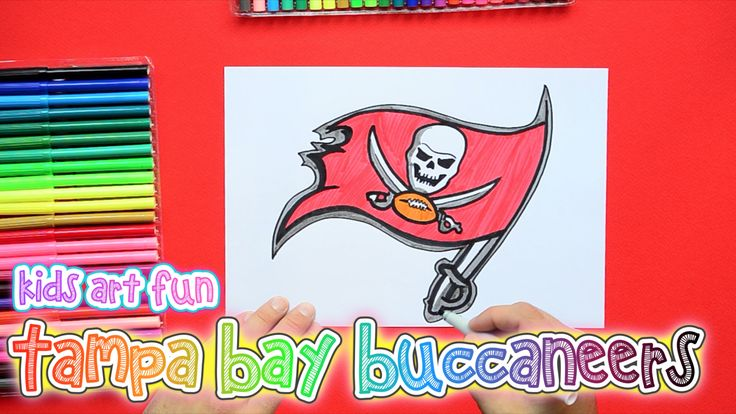 How to draw and color the Tampa Bay Buccaneers Logo NFL