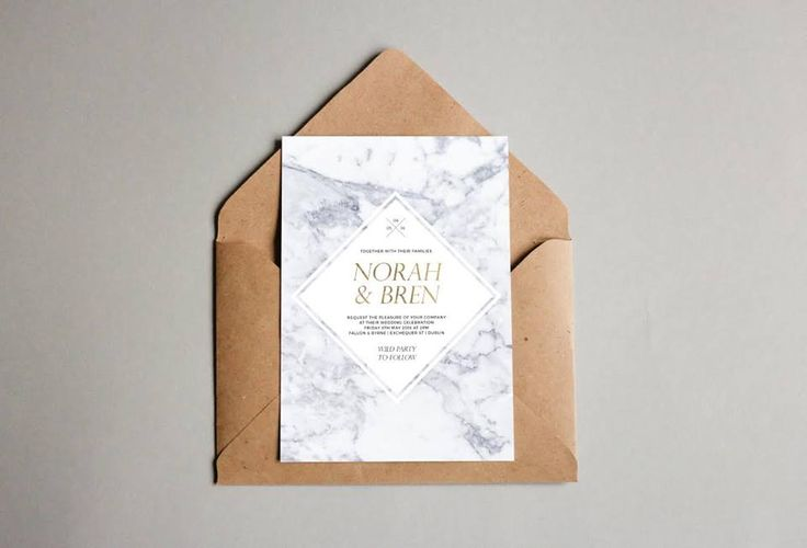 Marble and stone are huge stationery trends this year. Norah and Bren carried this uber cool theme throughout their suite, from invitations to personalised menus, for their Dublin city centre bash.
