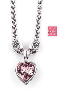 October is breast cancer awareness month - beautiful small pink heart enhancer! #breastcancer #miglio