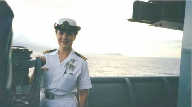 Tamara Harding, while serving in the navy.  Congratulations to an amazing woman - Tamara Sloper Harding, Class of '85.