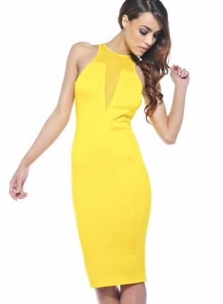 100  ideas to try about dresses | Fitted dresses, Yellow cocktail ...