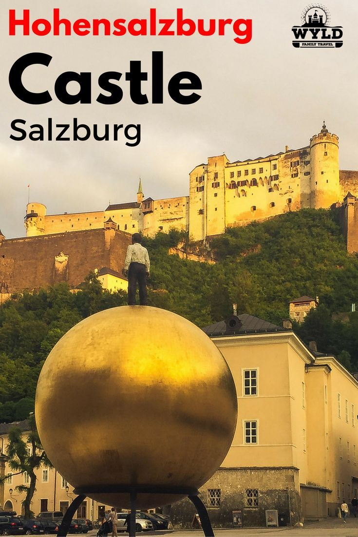 #Hohensalzburg #Castle perches on a hill above the old town section of Salzburg like a bird watches its nest.  When you visit #Salzburg, it is one of the first things you notice.