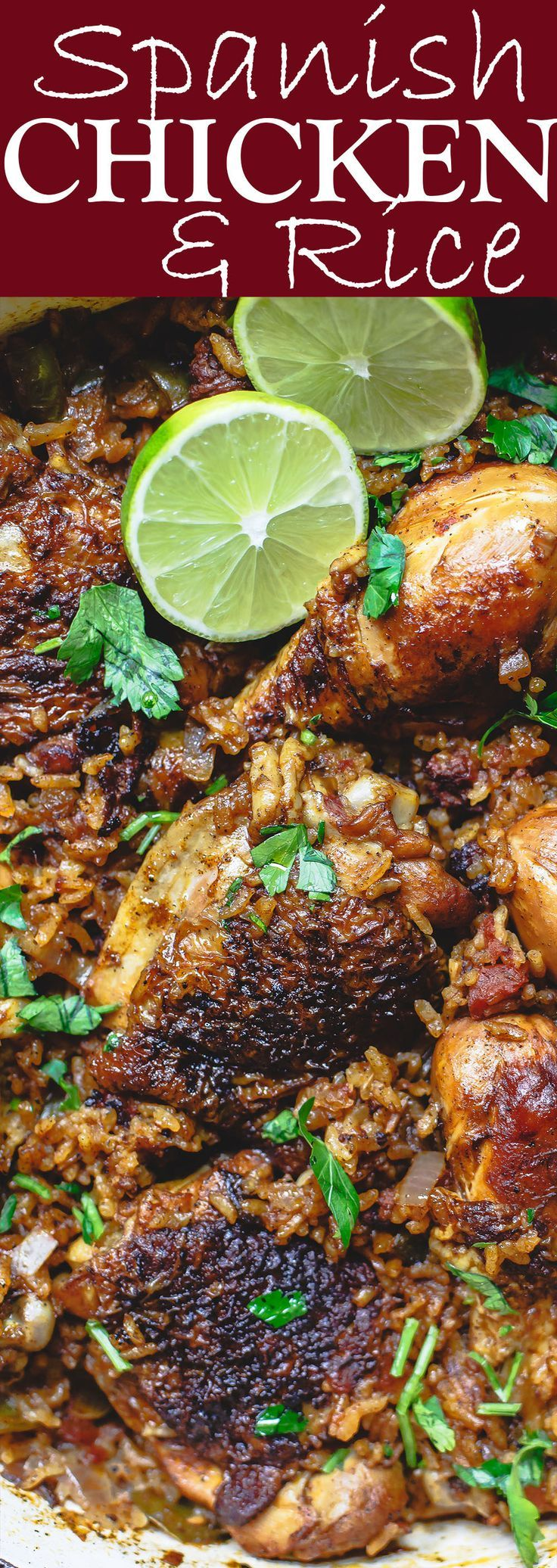 Spanish Chicken and Rice Recipe with Chorizo | The Mediterranean Dish. A simpler version of Arroz con Pollo, this Spanish chicken and rice recipe with chorizo is every bit a satisfying and flavorful,  (Chicken And Rice Meal Prep)