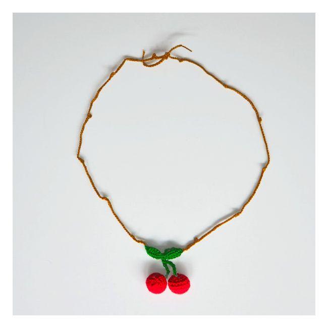 collier cerise en crochet