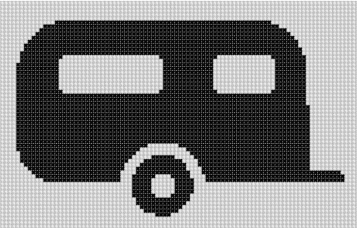 (10) Name: 'Embroidery : Camper 2 Cross Stitch Pattern