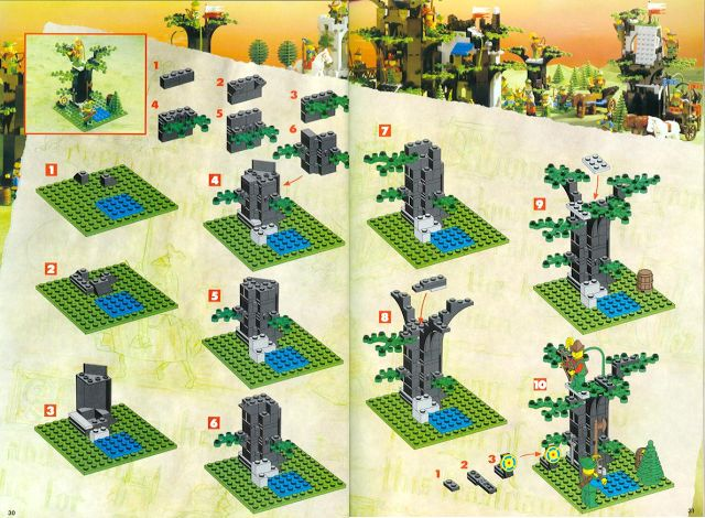 old lego castle instructions