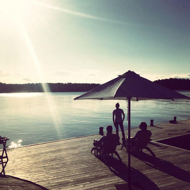 Solnedgång på bryggan