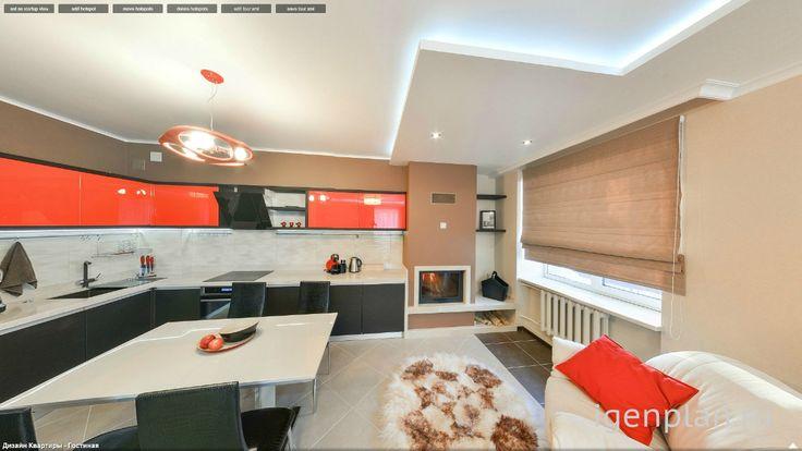 Красные наступают! Дизайн квартиры от Любови Муравьевой. #дизайнинтерьера #igenplan #дизайнквартиры   #интерьерквартиры