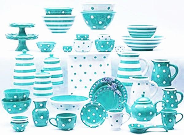 132 best dinnerware polka dots images on pinterest for Gold polka dot china