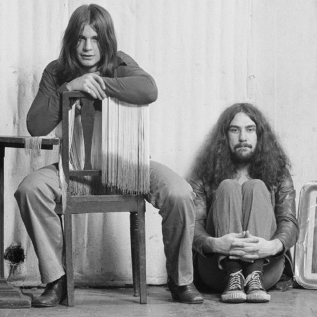 Bill Ward (right) with Ozzy Osbourne, Black Sabbath