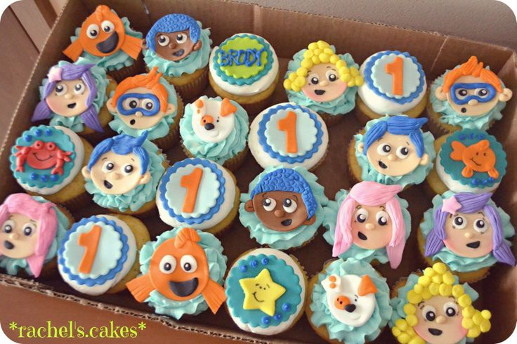 Bubble Guppies cupcakes https://www.facebook.com/the.rachels.cakes