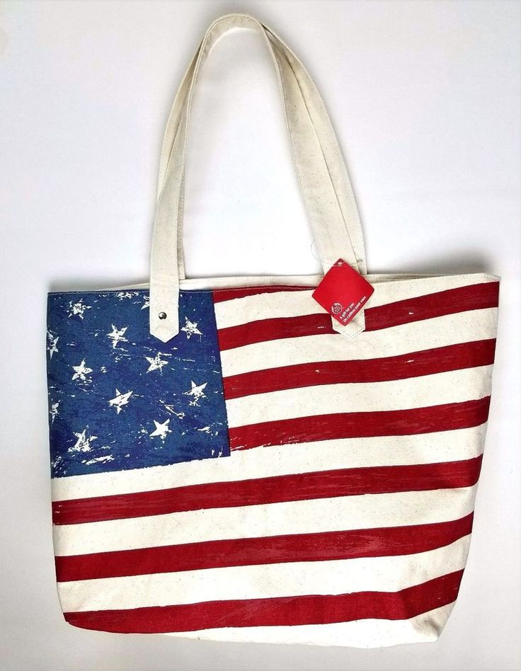 THE BODY SHOP American Flag Canvas Tote Bag #THEBODYSHOP #ToteBag