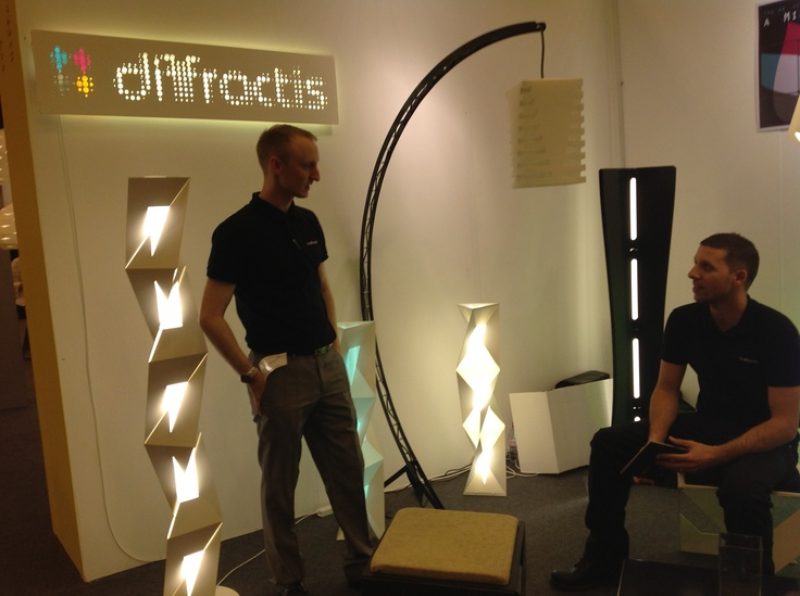 Diffractis with their light collection at hOME 2013