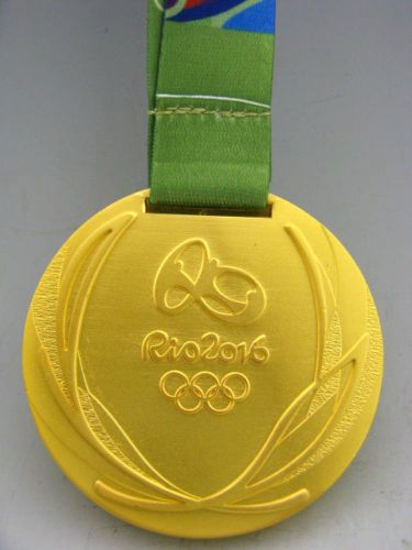 Brazil-Rio-2016-Olympic-Winners-Gold-Medal-With-Ribbon-Souvenir-Perfect-Gift
