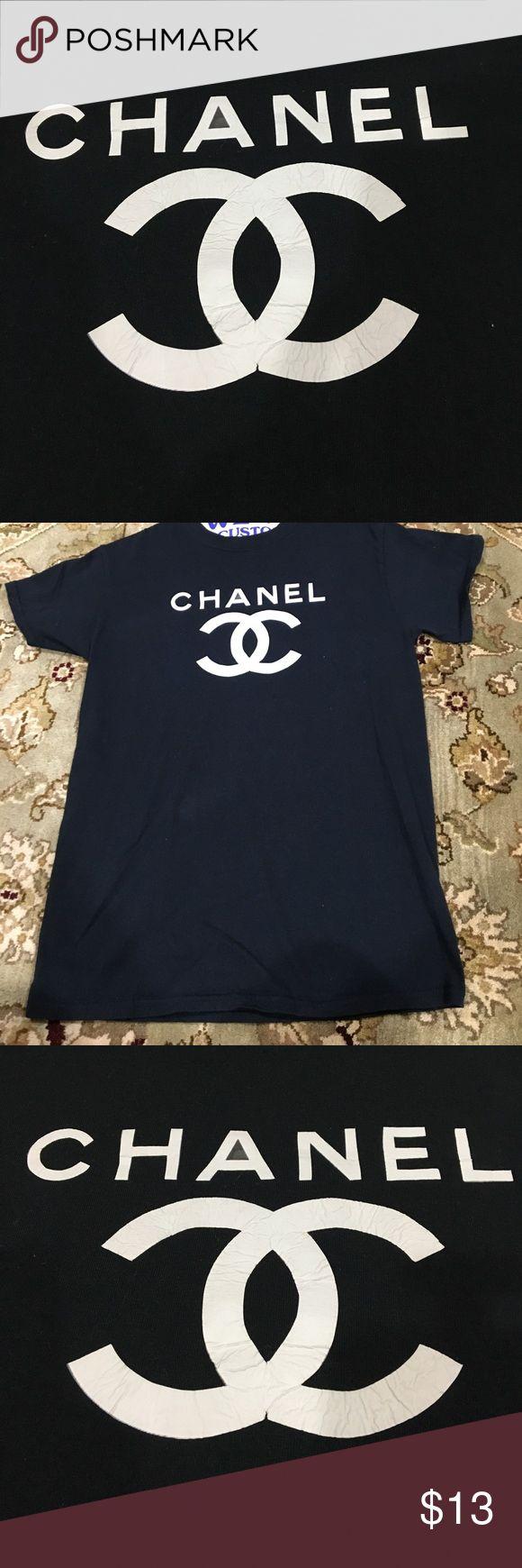 "Double C Chanel"" Top ""Double C Chanel"" logo tee shirt. Was"