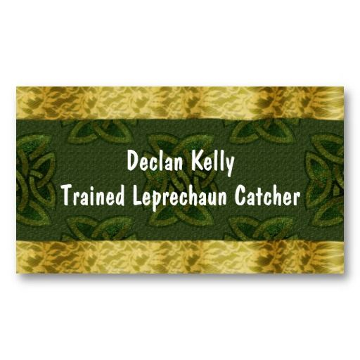 Lucky Gold Celtic knots Business Card #businesscards