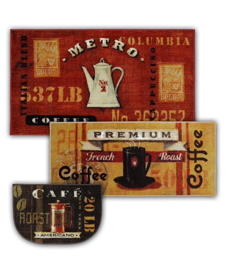 Coffee Rugs For Kitchen #19 - These Arenu0027t Your Typical Coffee Themed Kitchen Rugs! These Retro Themed  Rugs Will
