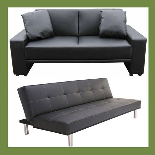 Supra Sofa Bed in all colours of faux leather 2 seater