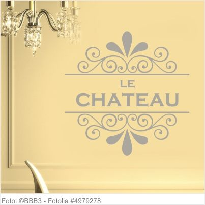 Möbeltattoo Le Chateau mit Ornament Shabby Chic 02