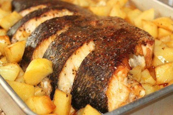 peixe assado no forno - Pesquisa Google                              …