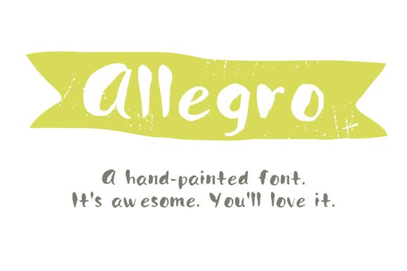 Check out Hand Painted font- Allegro by DrawBabyDraw on Creative Market