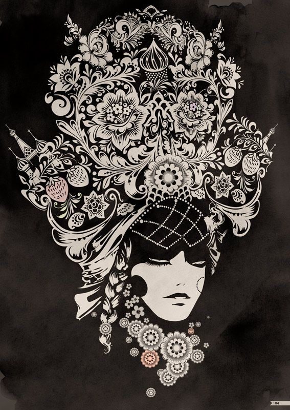 "Totally freaking amazing, a modern interpretation of a traditional Russian head dress, a ""kokoshnik"" by Yana Moskalyuk."