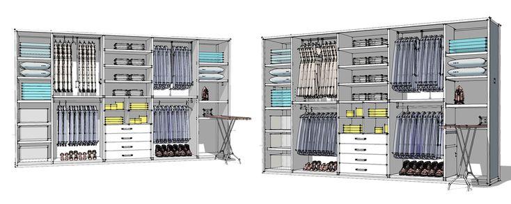 шкафы купе конфигурации полки расположение схема - Пошук Google