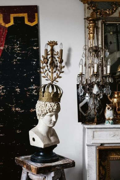 """House tour: Italian interior designer Olimpia Orsini's eclectic home: The designer's projects have taken her from Paris and Milan to Kenya, and she buys pieces according to her own taste. """"Not for the client but for me — then if they like it, that's okay! #ItalianInteriorDesign"""