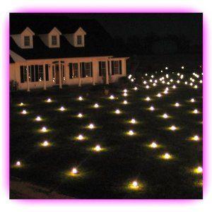 Lawn Lights Illuminated Outdoor Decoration, LED - Warm White, Medium   Lawn Lights