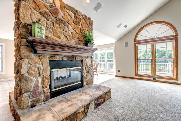 Brick Stone Gas Fireplace Affordable Luxury Homes Pin