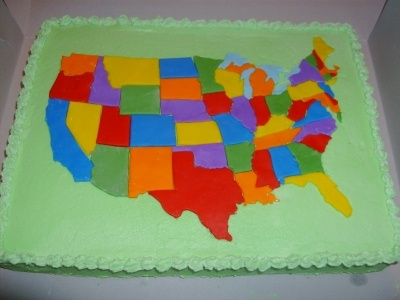 7 best Birthday cake 4 years old birthday USA Map images on