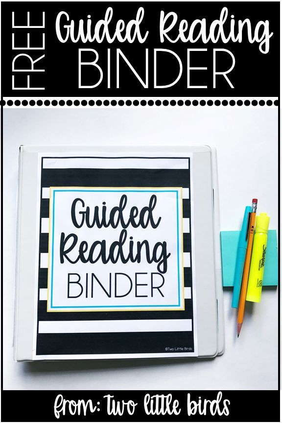 FREE guided reading binder to help you track running records, grouping, and note taking during groups.