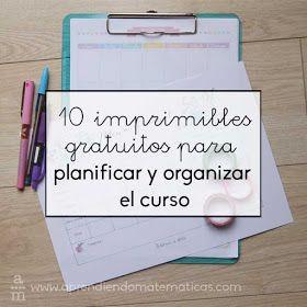 La web Aprendiendomatematicas nos facilita estos diez imprimibles gratuitos  para planificar y organizar el curso.