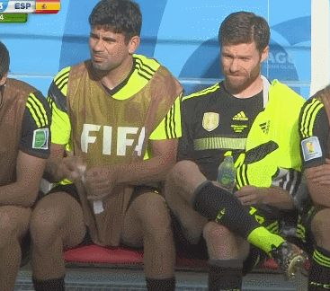 The Best GIFs and Memes From the World Cup So Far | World Cup Waxing? No one seems entirely sure what's going on here, but apparently Spain's Diego Costa is waxing Xabi Alonso's leg during the team's win over Australia. Do you, man.   | WIRED.com