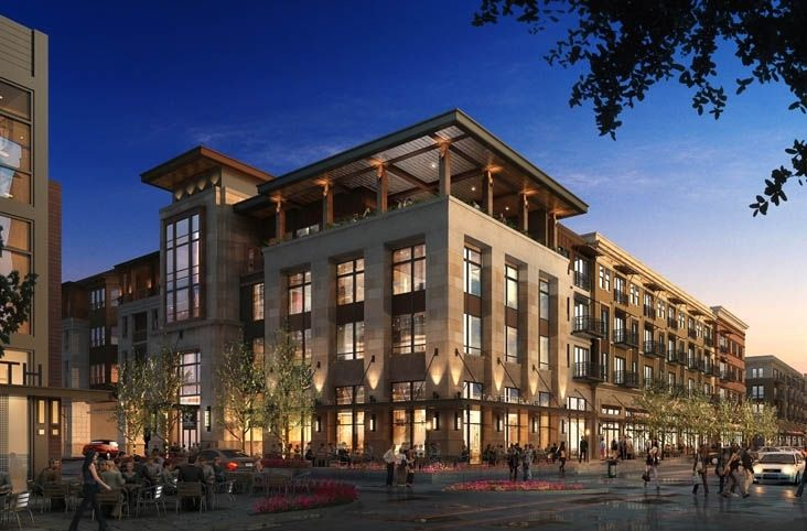 Part of the Clearfork Master Plan; two 4-story mixed use buildings totaling 392 residential units with 40,000-sf of retail. Construction type 5A and 1A.