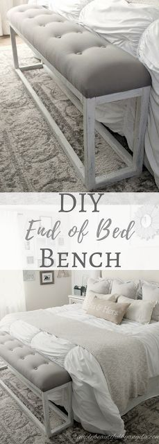 Simply Beautiful by Angela: DIY Simple End of Bed Bench