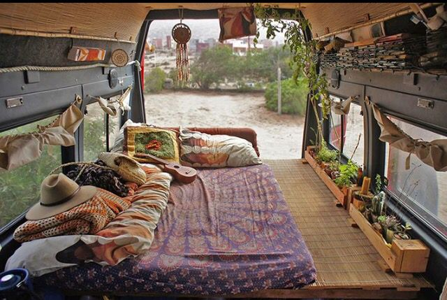 #VanLife love the little window boxes!