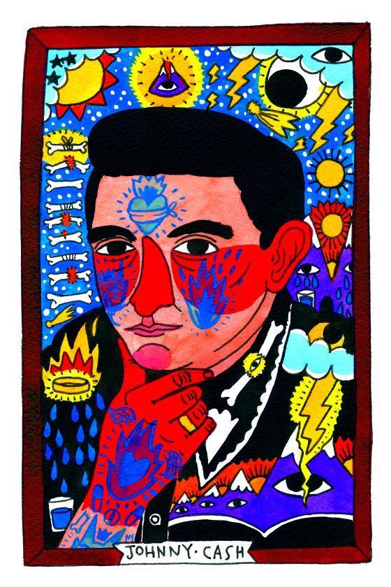 JOHNNY CASH Historia de la música en diez ilustraciones | Icon | EL PAÍS #RICARDOCAVOLO, #NuncaDejarasdeSorprenderme